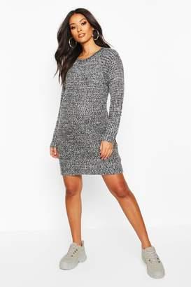 boohoo Maternity Soft Twist Knit Marl Dress