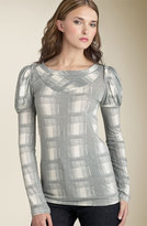 MARC BY MARC JACOBS Painted Plaid Jersey Top