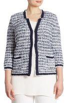 Stizzoli, Plus Size Plus Tweed Cropped Jacket