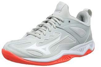 Mizuno Women's Ghost Shadow Handball Shoes, Grey (Glaciergray/White/Fiery Coral 60), 5 (38 EU)