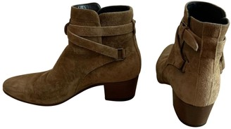 Saint Laurent West Jodhpur Camel Suede Ankle boots