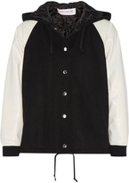 Comme des Garcons Faux Leather-paneled Wool-blend Bomber Jacket - Black