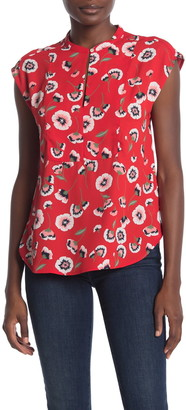 J.Crew Printed Cap Sleeve Woven Blouse