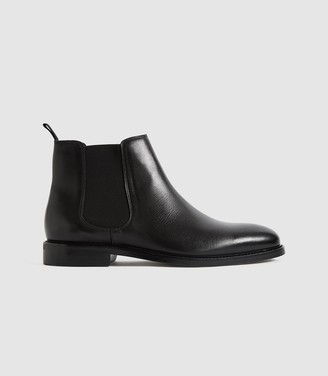 Reiss TENOR LEATHER CHELSEA BOOTS Black