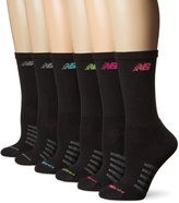 New Balance Women's Core Cotton 6 Pack Crew Socks