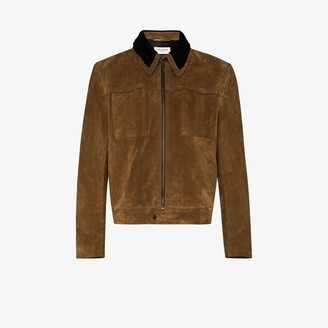 Saint Laurent shearling collar suede Jacket