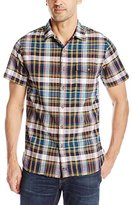 Woolrich Men's Dobby Textured Plaid Shirt