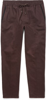 Dolce & Gabbana - Slim-fit Drawstring Contrast-trimmed Cotton Trousers