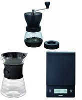 Hario V60 Scale, Decanter & Coffee Mill - Three Products All Sold Together