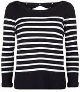 Claudie Pierlot Marin Striped Open Back Jumper