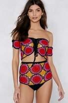 Nasty Gal Hole Lot of Leavin' Crochet Crop Top and Shorts