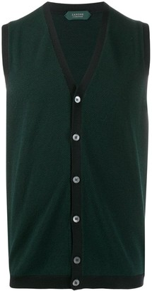 Zanone Flexwool knitted waistcoat
