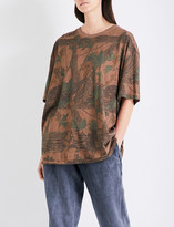 Yeezy Season 4 leaf-printed cotton-jersey T-shirt