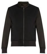 Lanvin Sateen-panelled Jersey Bomber Jacket