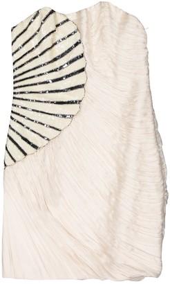Jay Ahr Ecru Silk Dresses