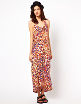 Just Female Coloured Leopard Printed Maxi Dress