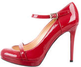 Versace Round-Toe Patent Leather Pumps