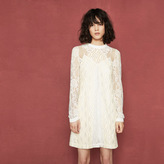 Maje Short lace patchwork dress