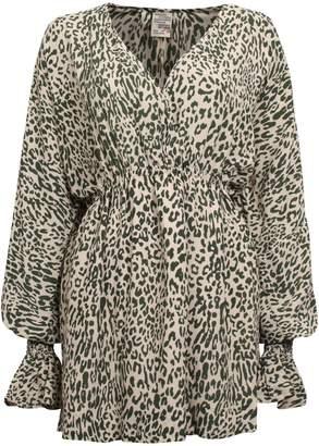 Baum und Pferdgarten Aemiley Leopard-Print Mini Dress