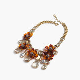 J.Crew Tortoise flower necklace