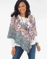 Chico's Printed Sueded Poncho