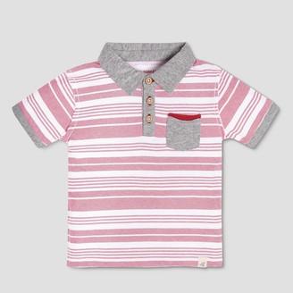 Burt's Bees Baby Toddler Boys' Faux Twill Short Sleeve Polo Shirt -