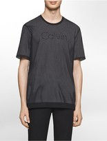 Calvin Klein Platinum Relaxed Fit Athletic Mesh Logo T-Shirt