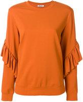 Dondup ruffle sleeve sweatshirt