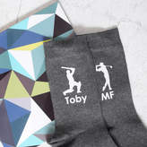 Pushka Gifts Personalised Men's Sports Hobbies Cotton Socks