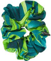 Versace Green Jungle Print Scrunchie