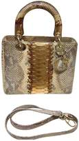 Christian Dior Lady python tote