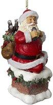 Kurt Adler Santa Coming Out of Chimney Ornament