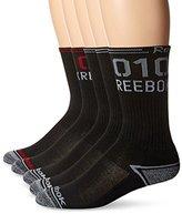 Reebok Men's 5 Pack Performance Training Crew Sock Red