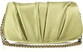 Satin pleated clutch