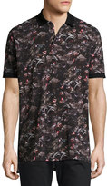 Givenchy Columbian-Fit Monkeys Polo Shirt, Black