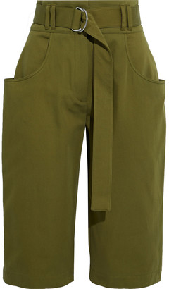 Proenza Schouler Belted Cotton-twill Shorts