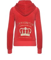 Juicy Couture Logo Velour Viva Crown Robertson Jacket
