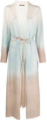 Canessa Gradient Fine-Knit Cardi-Coat