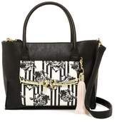 Betsey Johnson Metal Bow Flap Tote with Wristlet
