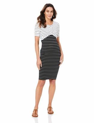 Ripe Maternity Women's Twisted Nursing Business Casual Dress