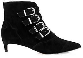 Joie Women's Calinda Suede Buckle Ankle Boots