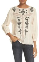 Joie 'Oakes' Embroidered Cotton Blouse