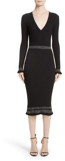 Altuzarra Ruffle Hem Knit Dress
