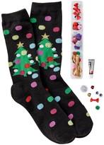 Free Press Crafty Christmas Crew Socks
