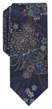 Bar III Men's Chrysanthemum Slim Tie, Created for Macy's