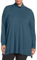 Eileen Fisher Lightweight Jersey Turtleneck (Plus Size)
