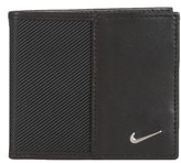 Nike Men's Leather Wallet - Black