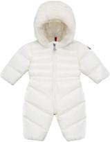 Moncler Yvelines Puffer Snowsuit w/ Faux Fur Hood, Size 6M-3