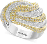 Effy Diamond Two-Tone Knot Ring (1-1/8 ct. t.w.) in 14k Gold in White Gold