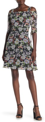 Sam Edelman Floral Print A-Line Dress